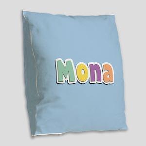 Mona Spring14 Burlap Throw Pillow