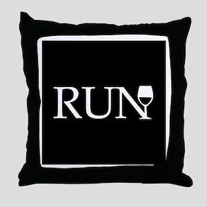 Run for Wine Throw Pillow