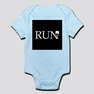 ac3168297 Dog Marathon Runner Running White Rain Baby Bodysuits - CafePress