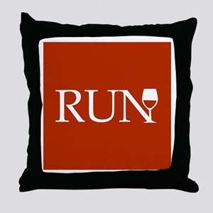 Run for Wine - red Throw Pillow
