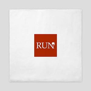Run for Wine - red Queen Duvet