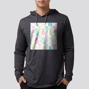 Colorful Pears Mens Hooded Shirt