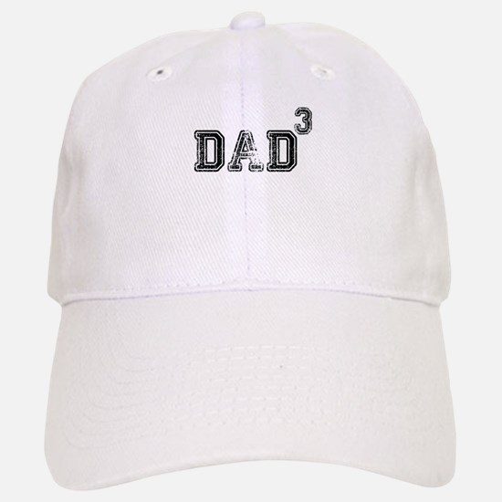 Dad Of 3 Baseball Baseball Baseball Cap