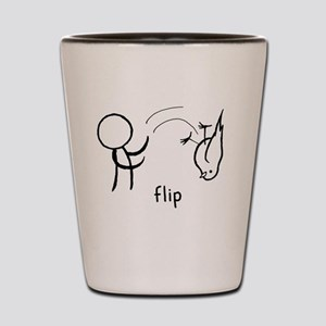 Flip the Bird (dark) Shot Glass