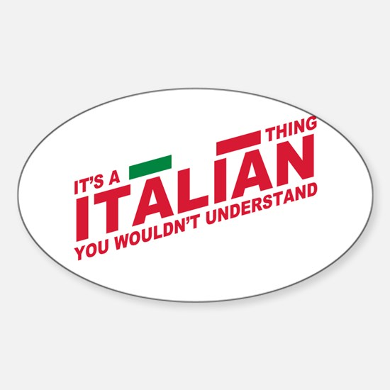 Italian thing Decal
