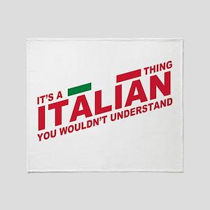 Italian thing Throw Blanket
