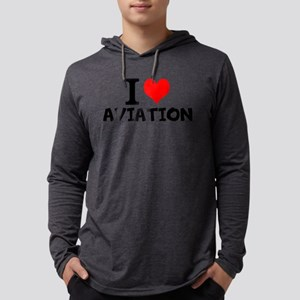 I Love Aviation Long Sleeve T-Shirt