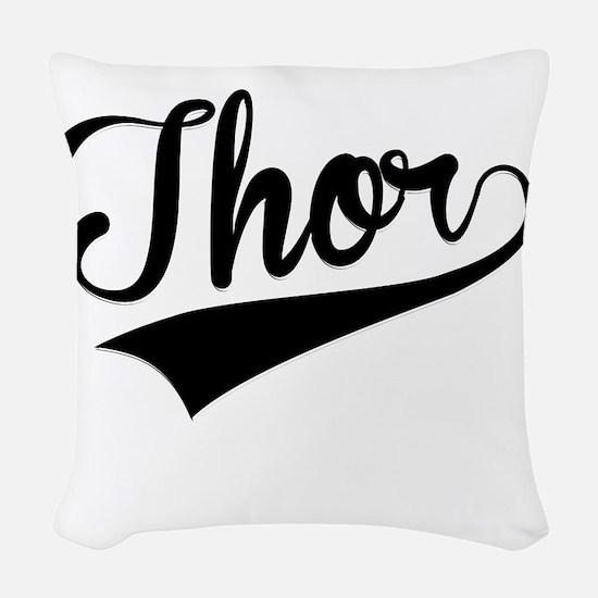 Thor, Retro, Woven Throw Pillow