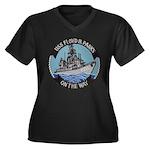 USS FLOYD B. Women's Plus Size V-Neck Dark T-Shirt