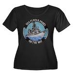 USS FLOY Women's Plus Size Scoop Neck Dark T-Shirt