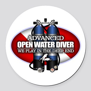 Advanced Open Water Round Car Magnet