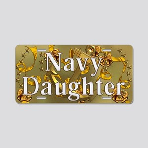 Harvest Moons Navy Daughter Aluminum License Plate