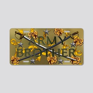 Harvest Moons Army Brother Aluminum License Plate