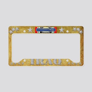 Harvest Moons CIB-Iraq License Plate Holder