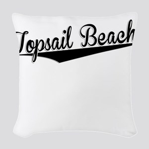 Topsail Beach, Retro, Woven Throw Pillow