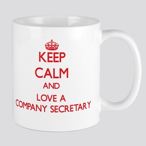 Keep Calm and Love a Company Secretary Mugs