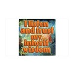 I Listen And Trust 35x21 Wall Decal