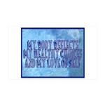 My Body Reflects 35x21 Wall Decal