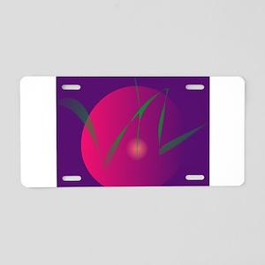 Double Moon Purple Night Abstract Art Aluminum Lic