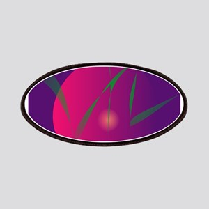 Double Moon Purple Night Abstract Art Patches