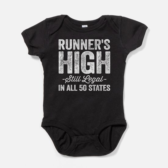 Runner's High. Still Legal. Baby Bodysuit