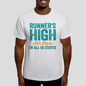 Runner's High. Still Legal. Light T-Shirt