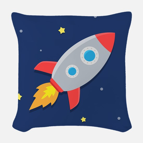 rocket Woven Throw Pillow