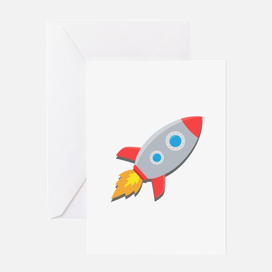 Rocket-Simple Greeting Cards