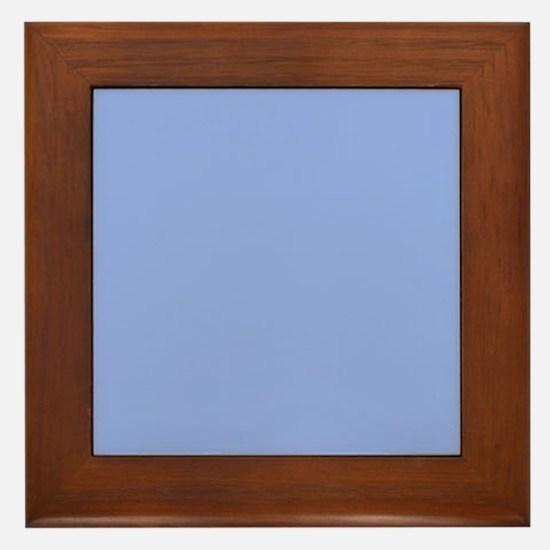 Solid Light Blue Framed Tile