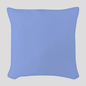 Solid Light Blue Woven Throw Pillow