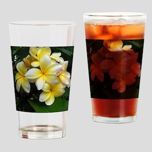 Yellow Frangipani Drinking Glass