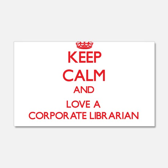 Keep Calm and Love a Corporate Librarian Wall Deca