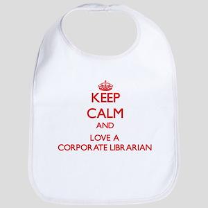 Keep Calm and Love a Corporate Librarian Bib