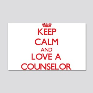 Keep Calm and Love a Counselor Wall Decal