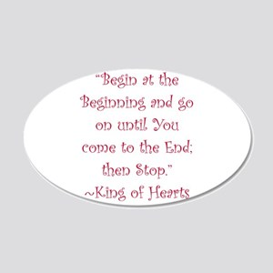 Begin At The Beginning Wall Decal