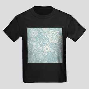 Elegant Floral Kids Dark T-Shirt