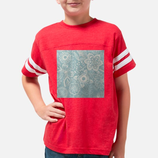 Elegant Floral Youth Football Shirt