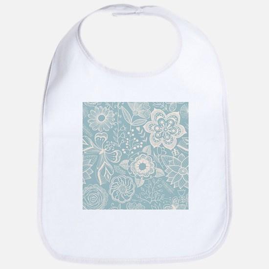 Elegant Floral Cotton Baby Bib