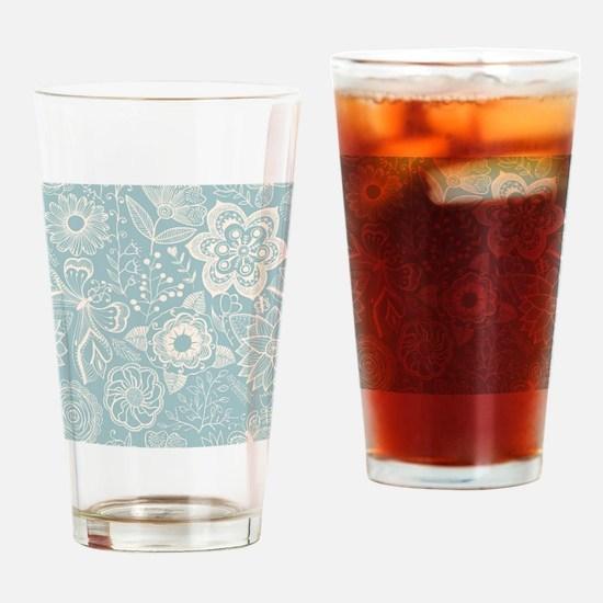 Elegant Floral Drinking Glass