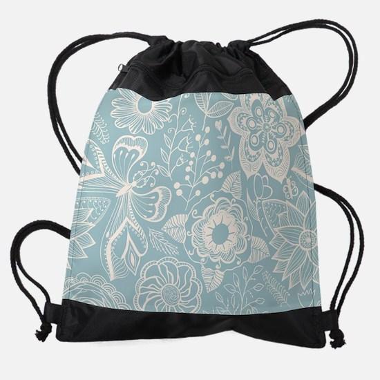 Elegant Floral Drawstring Bag