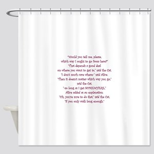 It Doesnt Matter Which Way You Go Shower Curtain