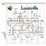 Louisville Transit Map Shower Curtain
