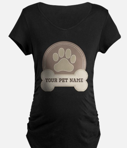 Personalized Dog Lover Maternity T-Shirt