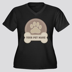 Personalized Dog Lover Plus Size T-Shirt