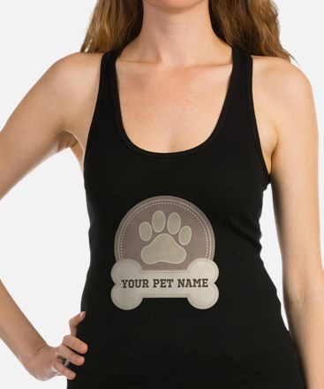 Personalized Dog Lover Racerback Tank Top