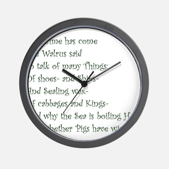 The Time Has Come The Walrus Said Wall Clock