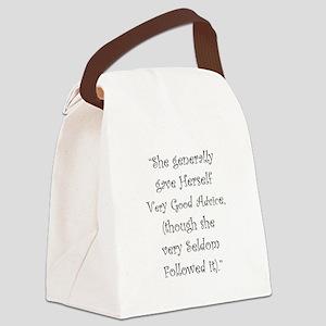 Very Good Advice Canvas Lunch Bag