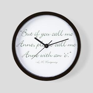 Anne with an E Wall Clock