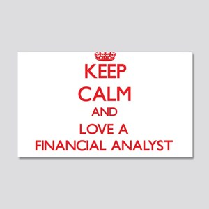 Keep Calm and Love a Financial Analyst Wall Decal