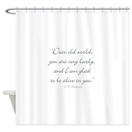 Dear old world shower curtain by missquotedquotes for Old world curtains and drapes